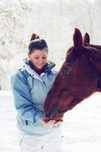 kobieta i koń
